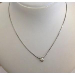 Точечный источник света из белого золота с бриллиантом - 18 kt - gr. 3.85
