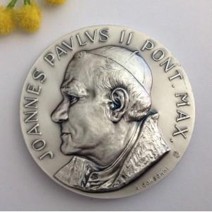 Медальон - Папа Иоанн Павел II и Площадь Святого Петра