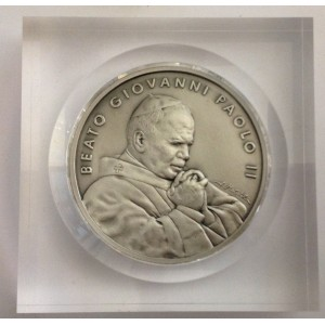 Medallion of Beatification of Pope John Paul II°