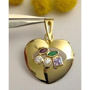 Подвеска - сердце - из жёлтого золота 18 кт - gr. 1.6