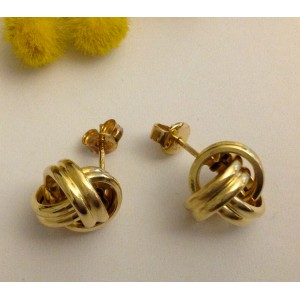 18kt Solid Gold Earrings - gr. 3.34