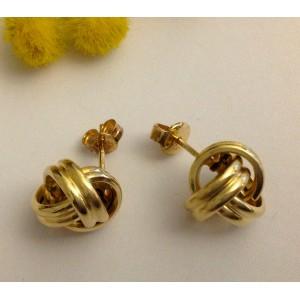 18kt Solid Gold Earrings - gr. 3.34