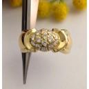 Anello in oro giallo 18kt con Cubic Zirconia - gr. 6.26