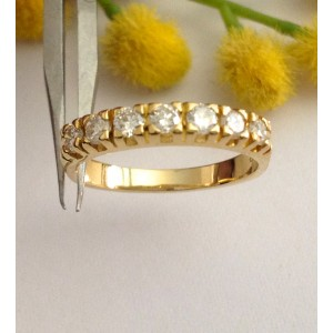 18kt Solid Gold Diamonds Riviere Ring - gr. 3.3