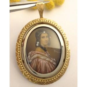 18kt Solid Gold Vintage Pendant / Brooch -  gr. 12.51
