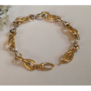 18kt Solid Yellow / White Gold Bracelet - gr. 11.5