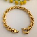 Bracciale maglia a cordoncino in oro 18kt - gr. 20.50