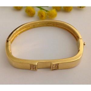 Браслет из жёлтого золота - 18 кт. с 12 бриллиантами - gr. 31.3