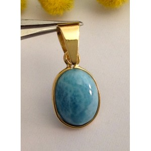 18kt Solid Gold Pendant with Turquoise  - gr. 2.62