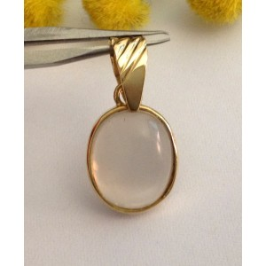 18kt Solid Gold Pendant with Moonstone- gr. 3.28