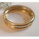 18kt Solid Yellow and White Gold Bangle - gr. 57.1