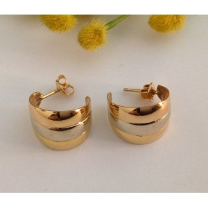 18kt Solid Gold Earrings- gr. 4.15
