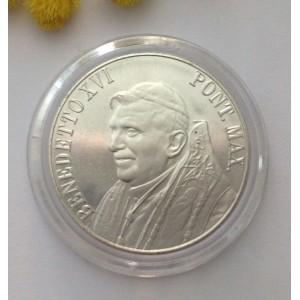 Медаль - Папа Бенедикт XVI и Площадь Святого Петра -