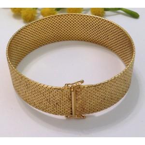 18kt solid gold vintage bracelet - gr. 61.9