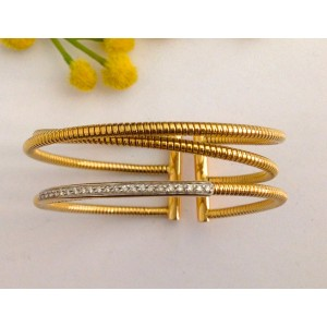 18kt Solid Gold Bracelet with Diamonds - gr. 25.78