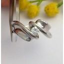 Solitario in oro bianco 18kt con Diamante - gr. 8.466.24