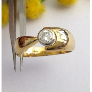 18kt Solid Gold Diamond Solitary Ring - gr. 5.41