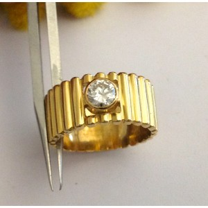 Anello in oro giallo 18kt con Diamante - gr. 6.58