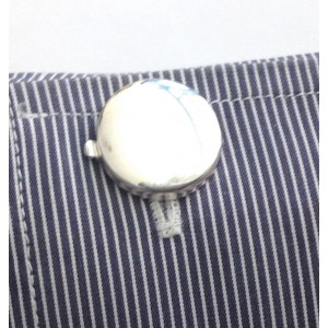 925 Sterling Silver Round Buttoncovers