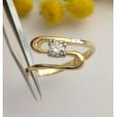 Solitario in oro giallo / bianco 18kt con Diamante - gr. 3.47