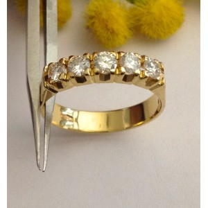 Riviere in oro giallo 18kt con Diamanti - gr. 3.62