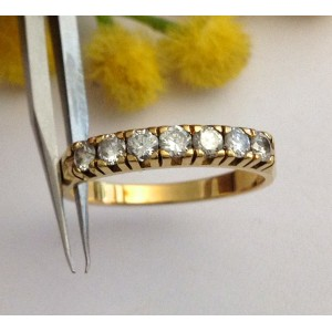 18kt Solid Gold Diamonds Riviere Ring- gr. 3.29