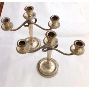 800 Solid Silver Vintage Candlesticks