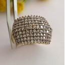 Anello in oro 10kt co Pavè di Diamanti - gr. 4.55