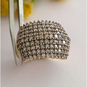 10kt Solid Gold Diamonds Ring - gr. 4.55