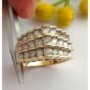Anello in oro 10kt con Diamanti - gr. 6.62