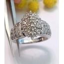 Anello in oro bianco 10kt con Diamanti - gr. 5.08