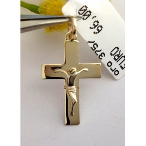 9kt Solid Gold Cross- gr. 1.1