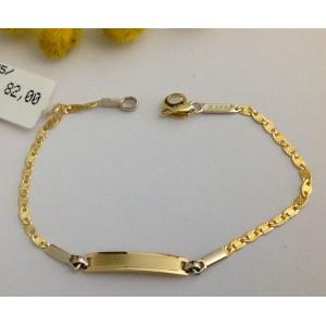 9kt Solid Gold Babies' Bracelet - gr. 1.30