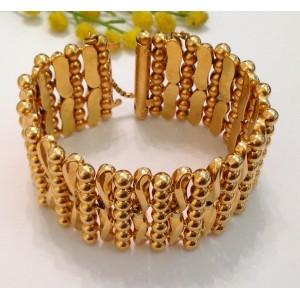 18kt Solid Gold Vintage Bracelet - gr 101.67