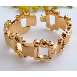 18kt Solid Rose Gold Vintage Bracelet- gr. 38.1