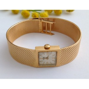 "18kt Solid Rose Gold Vintage Wristwatch "" Roamer """