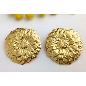 18kt Solid Gold Earrings - gr. 9.19