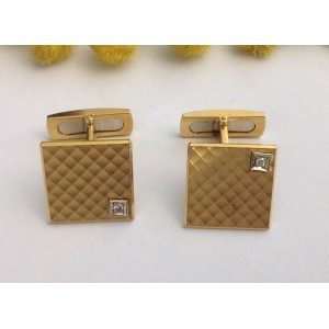 18kt Solid Gold and Diamonds Cufflinks - gr. 16.06