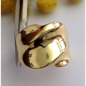 18kt Solid Yellow Gold Ring  - gr. 8.14