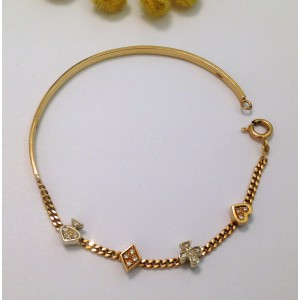 18kt Solid Yellow Gold & Diamonds Bracelet  - gr. 6.71