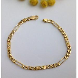 18kt Solid Gold Men'tes - grs Bracelet with Pla.  11.64
