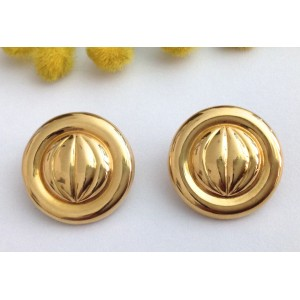 18kt Solid Yellow Gold Clips Earrings - gr. 8.38