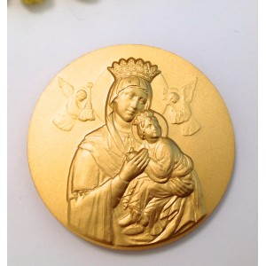 Medallion of Saint John Pope II° / Madonna of Help