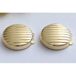 18kt Solid Yellow Gold Buttoncovers - gr. 3.62