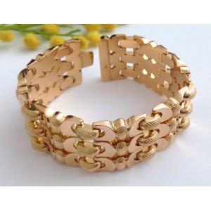 18kt Solid Rose Gold Vintage Bracelet - gr. 48.78