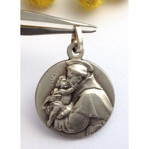 "925 Sterling Silver "" Saint Antony of Padua "" Medal"