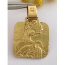 "18kt Solid Gold "" Aquarium "" Zodiacal Medal - gr. 10.1"