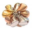 Anello Charms in Oro Giallo / Bianco / Rosa 18kt  - gr. 21.1