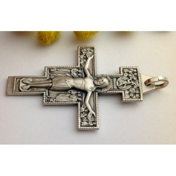 925 Sterling Silver Saint Damiano Crucifix aagMcPTUd