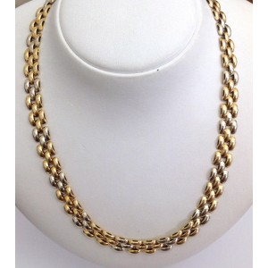 18kt Solid Multi Tone Gold Necklace - gr 40.06